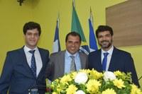 Rogério Pai e Rogério Filho parabenizam Itaberaba.