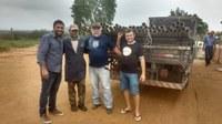 Vereador Neto entrega da encanação na comunidade de Guaribas e Bordaleza